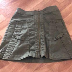 Zara front zip skirt